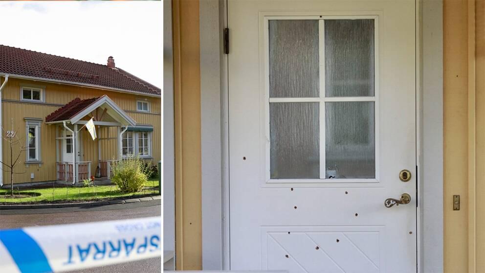 Arkivbild: Ett 20-tal skott avlossades mot en polismans villa i Västerås den 28 oktober 2017.