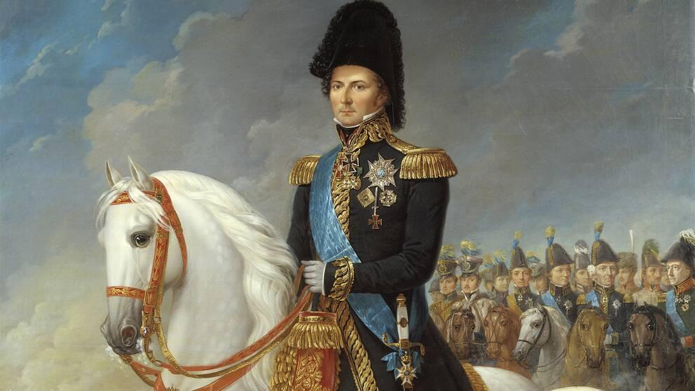 Karl XIV Johan målad av Fredrik Westin.