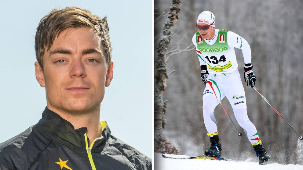 Martin Bergström i skidspåren 2014.