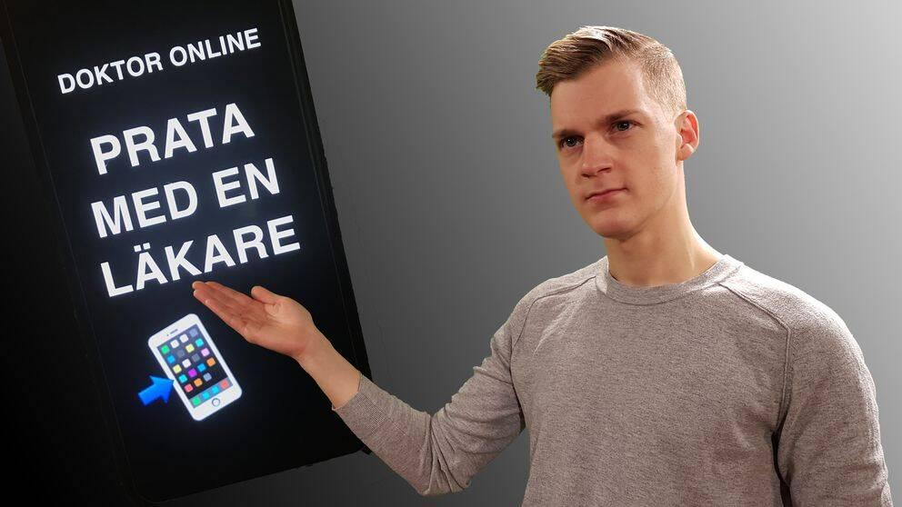 SVT:s reporter Johan Pisoni förklarar hur de digitala läkarbesöken fungerar.