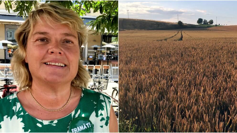 Centerpartiets Birte Sandberg ligger bakom förslaget att skriva ett protestbrev till näringsministern angående grävningarna på Österlen.
