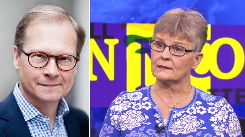 Mats Knutson, kommentator och Maud Olofsson.