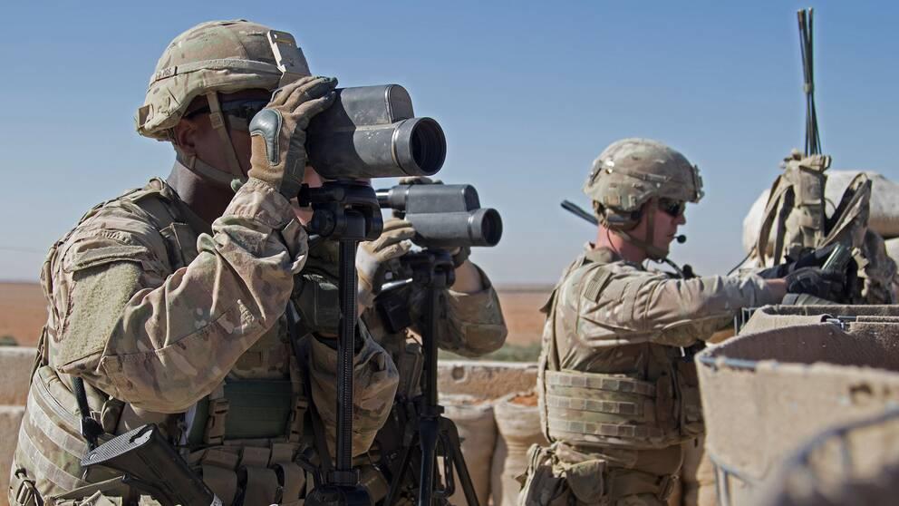 Amerikanska soldater i syriska Manbij i november