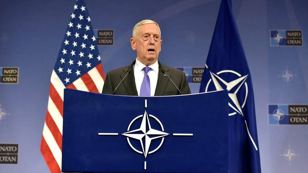 Arkivbild: USA:s försvarsminister James Mattis.