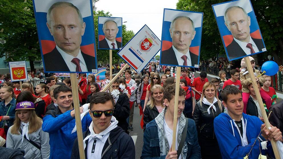 Första maj-demonstration på Krim 2014