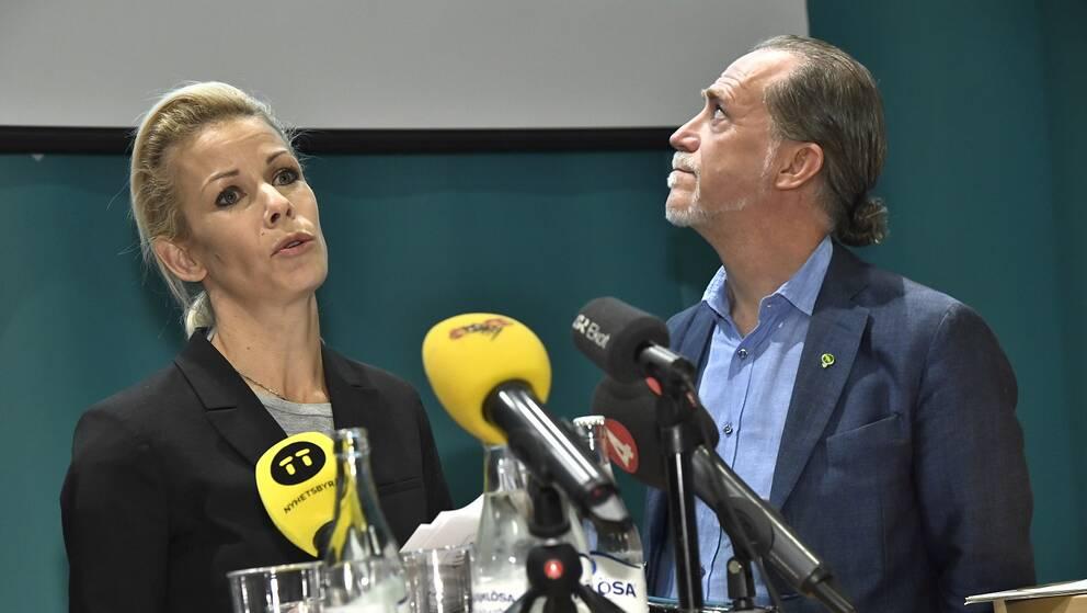 Anna König Jerlmyr (M) och Daniel Helldén (MP).