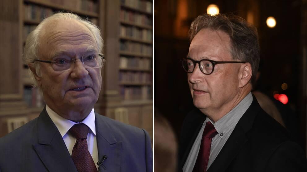 Kung Carl XVI Gustaf och Horace Engdahl