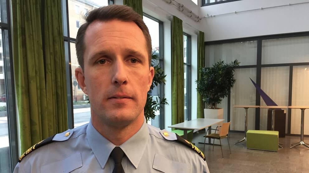 Mattias Sigfridsson, biträndande polisområdeschef i Malmö.