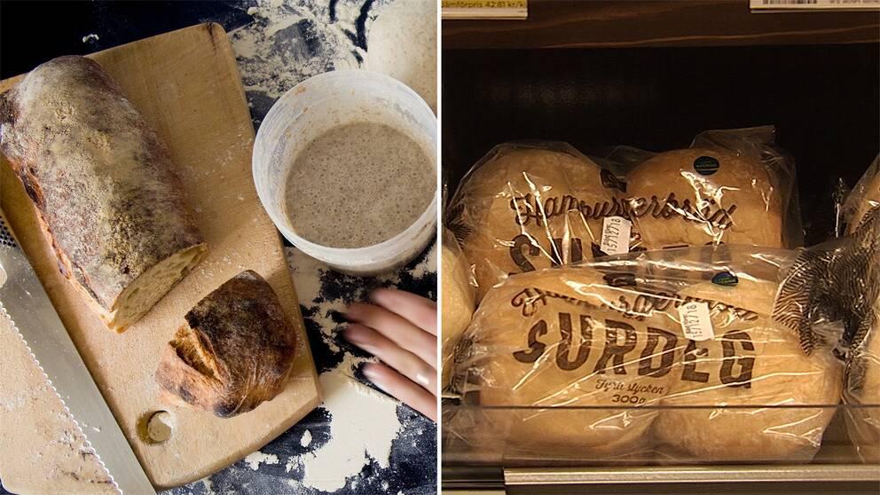 """En """"riktig"""" surdeg och surdeg från brödfabrik"""