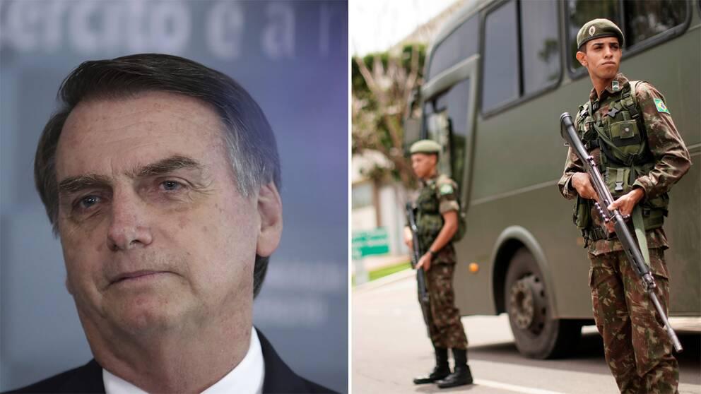Brasiliens president Jair Bolsonaro svärs in i dag.