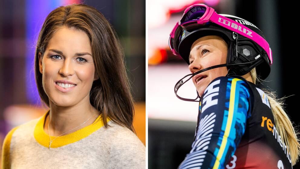 Maria Pietilä Holmner och Frida Hansdotter.