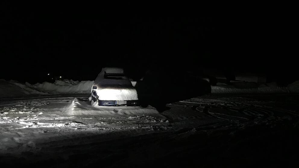 Bilen som delar av sällskapet färdades i.