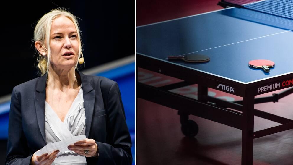 Bordtennisförbundets ordförande Petra Sörling.