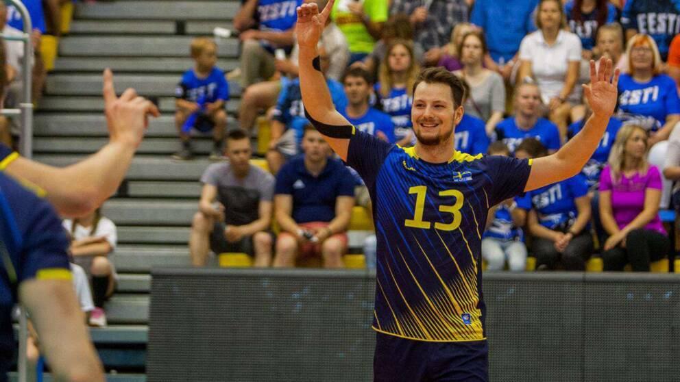 Viktor Linberg från Vingåker ska leda Sveriges herrlandslag i volleyboll  som lagkapten. Foto  Privat b90aab0df8415