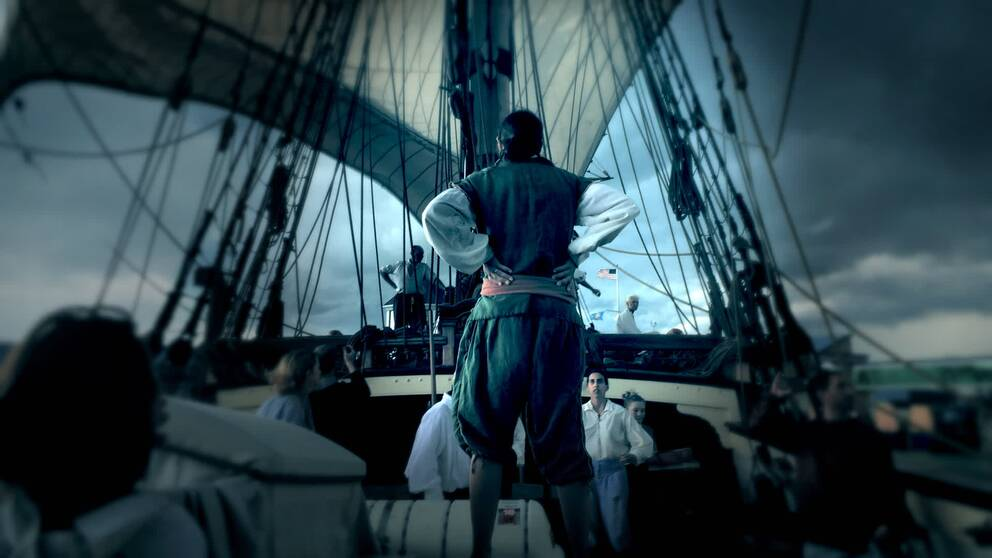 Det var en hemlig och stormig resa när skeppet Kalmar Nyckel seglade för att skaffa en koloni i Amerika.