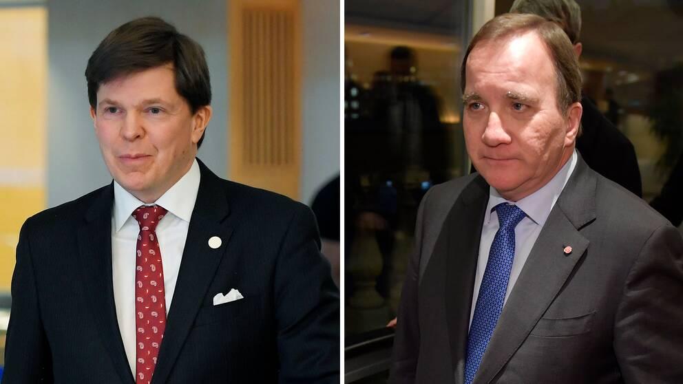 Talman Andreas Norlén och S-ledaren Stefan Löfven