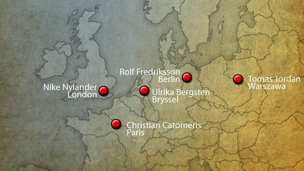 SVT har utsända reportrar i fem länder under valdagen.