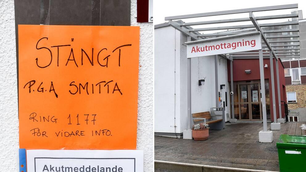 Akutmottagningen på lasarettet i Enköping har stängts