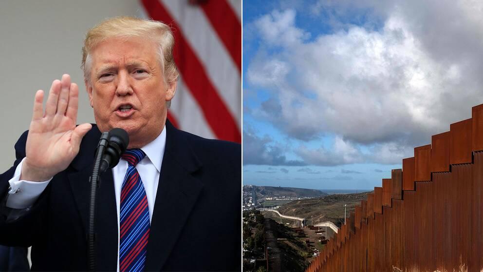 Donald Trump och gränsmuren mot Mexiko