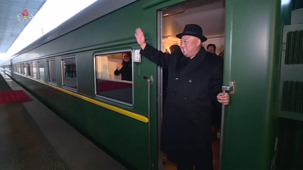 Nordkoreas ledare lämnade Pyongyang på måndagen