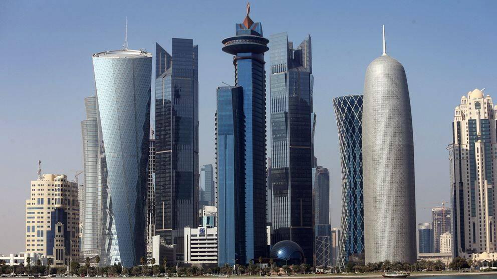 Doha, huvudstaden i Qatar.