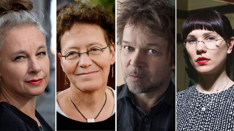 Thomas Bannerhed, Lena Einhorn, Lyra Koli och Sara Stridsberg har chans att vinna.