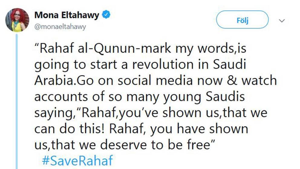 Mona Eltahawys tweet.