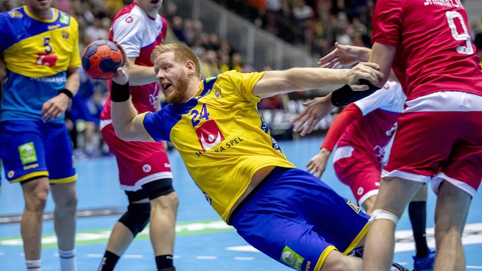 Sveriges mittnia Jim Gottfridsson.