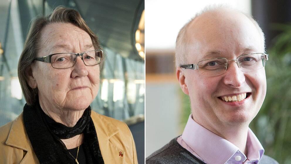 Marit Paulsen (FP) och Mikael Gustafsson (V).