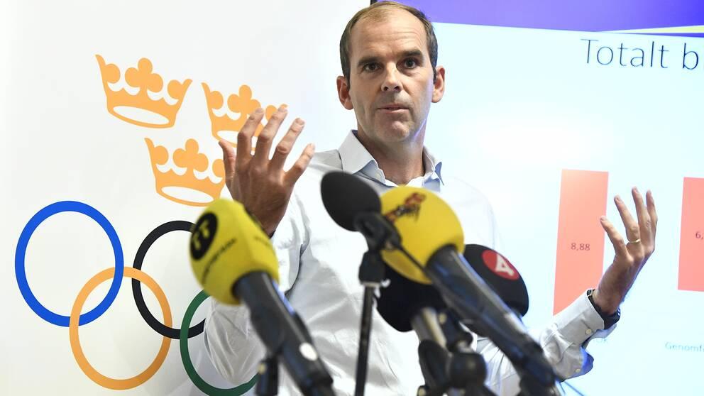 Richard Brisius lämnar in Sveriges OS-ansökan i morgon. Foto  TT. bc306bb31da51