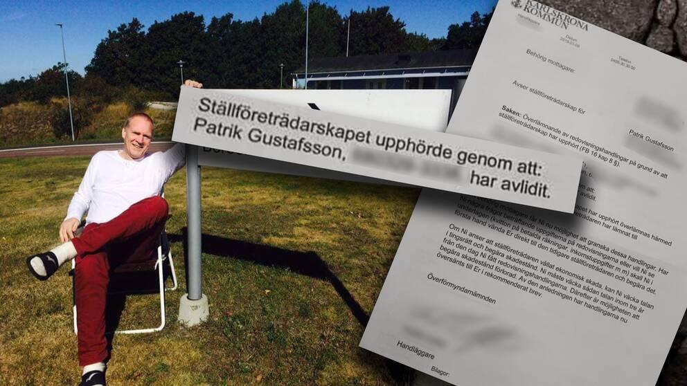 Patrik Gustafsson dödförklarades – av misstag.