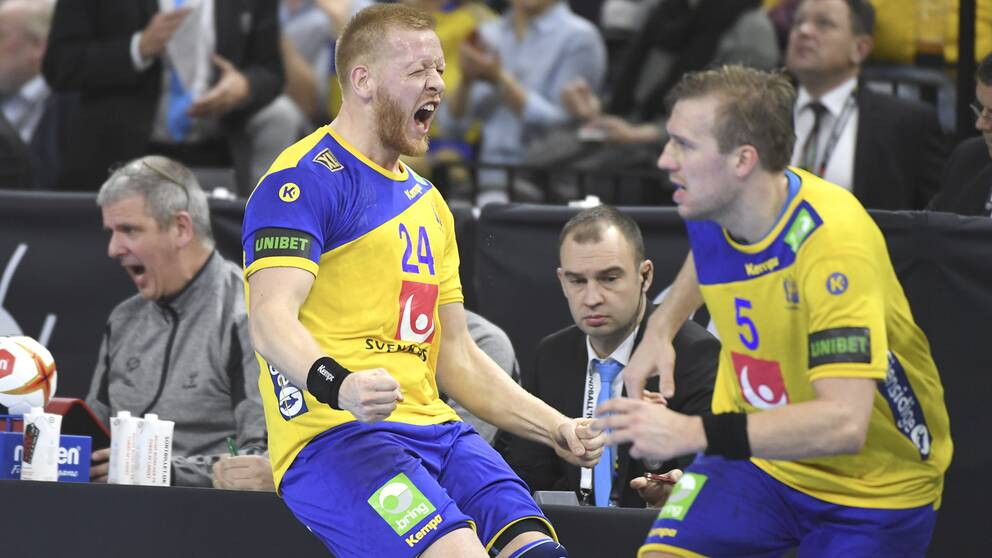 Jim Gottfridsson gjorde flera viktiga mål i slutet av matchen.