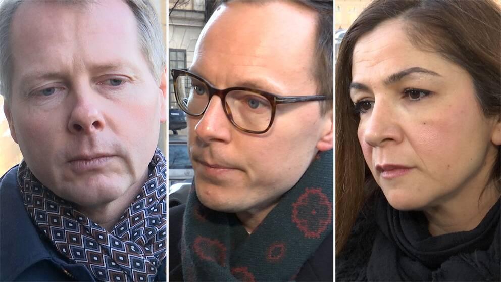 Christer Nylander, Mats Persson och Gulan Avci
