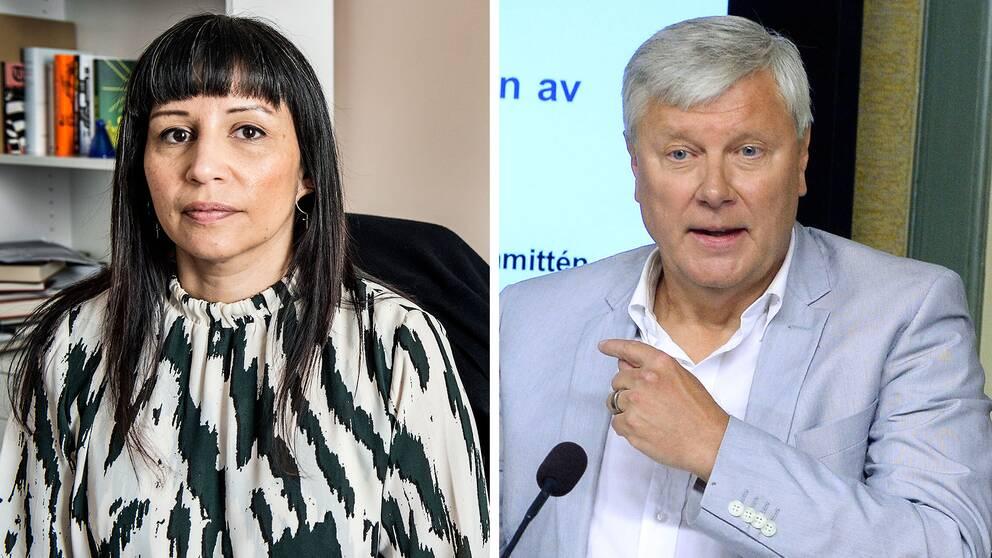 V-profilerna Rosanna Dinamarca och Lars Ohly