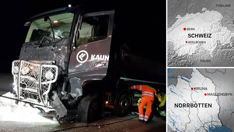 Fem av de sex döda i trafikolyckan i Masugnsbyn kom från skidorten Adelboden i Schweiz