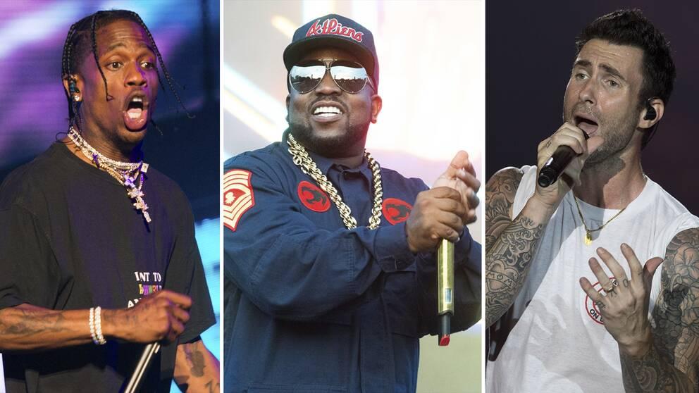 Travis Scott, Big Boi och Maroon 5 (med sångaren Adam Levine) kommer att uppträda på årets Super bowl