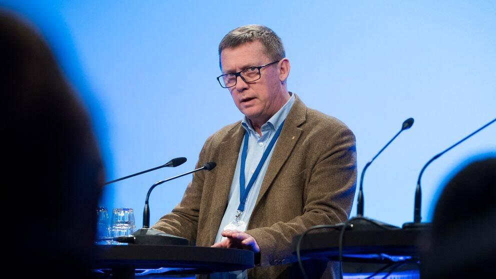 Säkerhetspolischefen Klas Friberg på Folk och Försvars rikskonferens på Högfjällshotellet i Sälen 15 januari 2019.