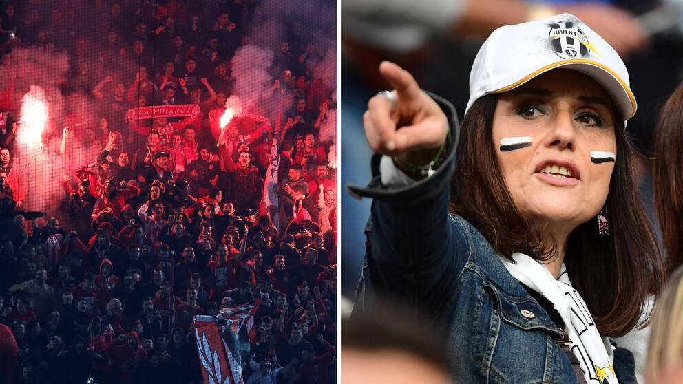 Kvinnor får bara se supercupfinalen mellan Juventus och Milan från familjeläktaren.