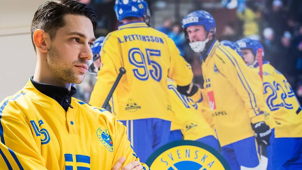 Christoffer Fagerström under dagens presskonferens.