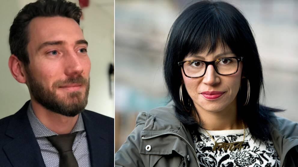 Mikael Ekvall (V), regionråd i Jönköping och vänsterprofilen Rossana Dinamarca är två av flera vänsterpartister som kritiserar att partiet släpper fram S/MP-regeringen.