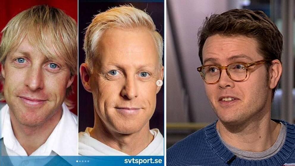 SVT-profilen André Pops och SVT:s sociala medeier-expert Philip Rudolfsson