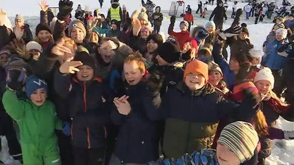 Barn på Västerstrandsskolan i Karlstad
