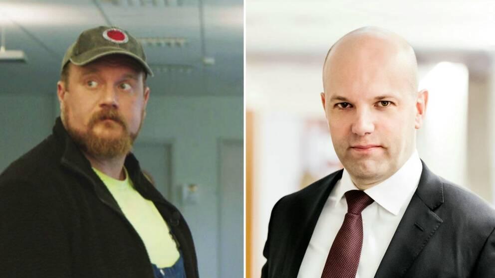 Två porträttbilder av män.