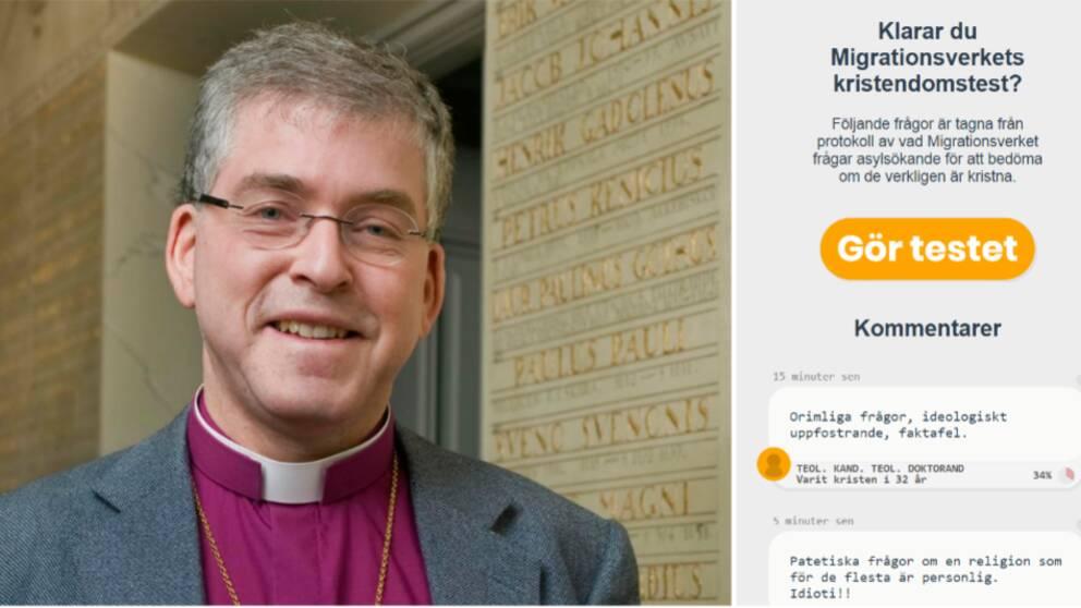 Biskopen i Skara stift, Åke Bonnier, har testat sin kunskap genom Migrationsverkets frågebatteri och svarade rätt på 48 procent av frågorna.