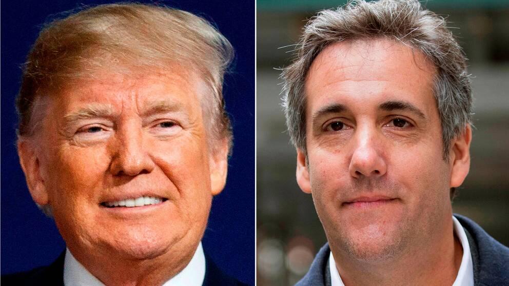 USA:s president Donald Trump och hans tidigare advokat Michael Cohen.