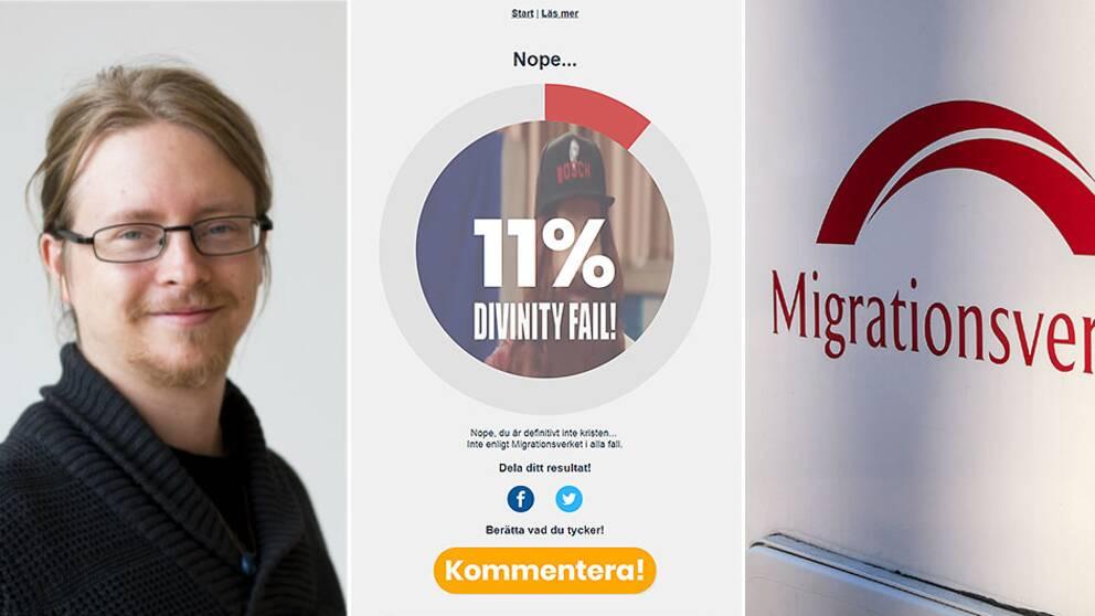 Micael Grenholm, pastor från Uppsala, har sammanställt läckta konvertitfrågor från Migrationsverket till ett eget test. Många kristna har fått underkänt på testet