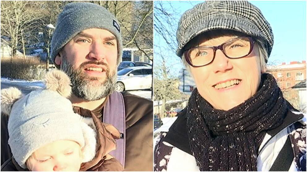Andreas Klässman och Anette Jansson om parkeringsavgift.
