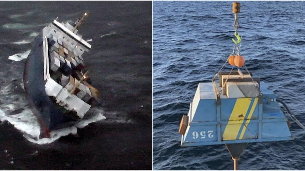 Den första oljan har nu omhändertagits från det läckande vraket Finnbirch.