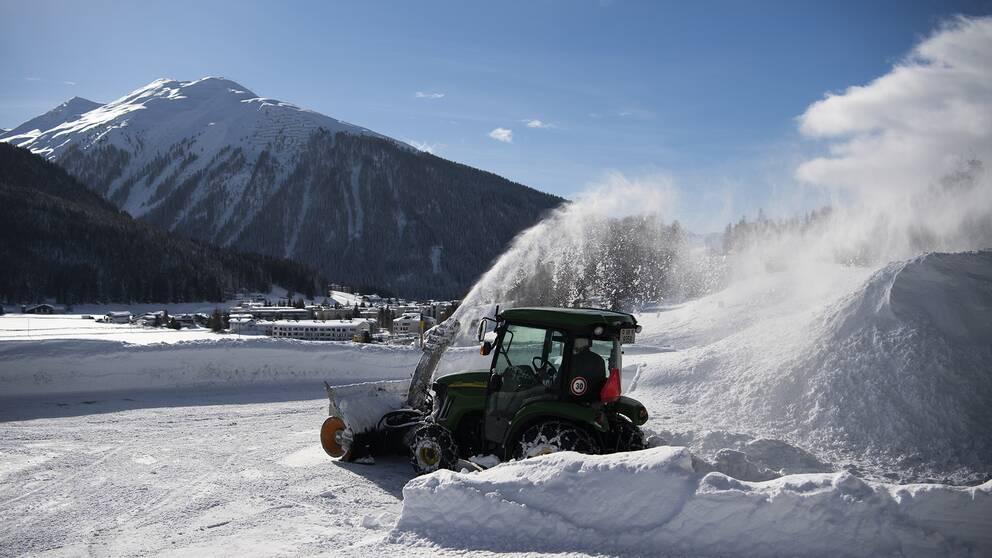 Förberedelser inför toppmötet i Davos.