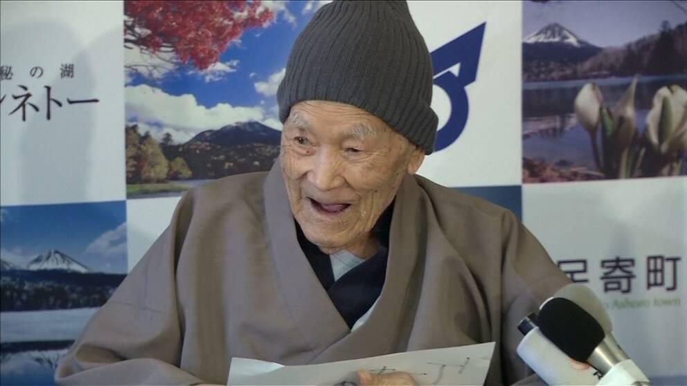 Masazo Nonaka utsågs till världens äldste man i fjol.